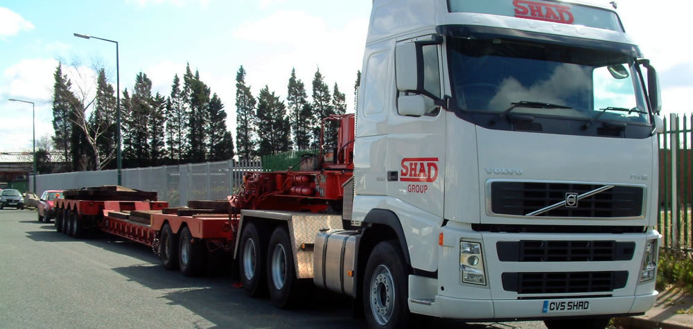 SHAD's specialist machinery transportation