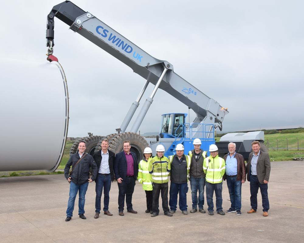 From left to right – Nicolas Huthloff-CES GmbH, Phil Byrne-Shad, Lesley Black, Craig, James Won-CS Wind, Robert Huthloff-CES GmbH, Peter Doggett-Shad